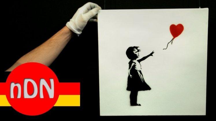 Banksy-Kunstwerk zerstörte sich nach Versteigerung selbst