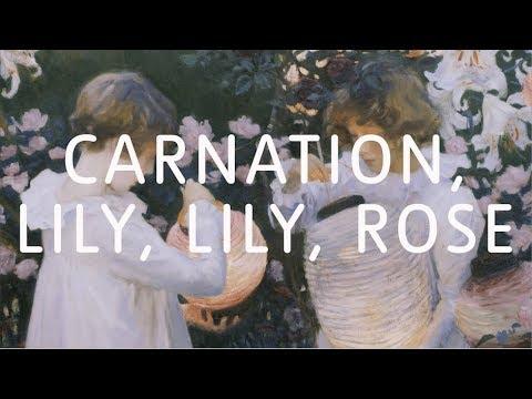 John Singer Sargent – Carnation, Lily, Lily, Rose   Art Close Up