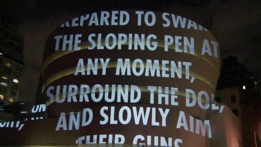 """Jenny Holzer's """"For the Guggenheim"""""""