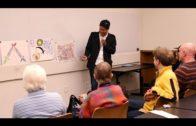 Khadim Ali's workshop participants show their art